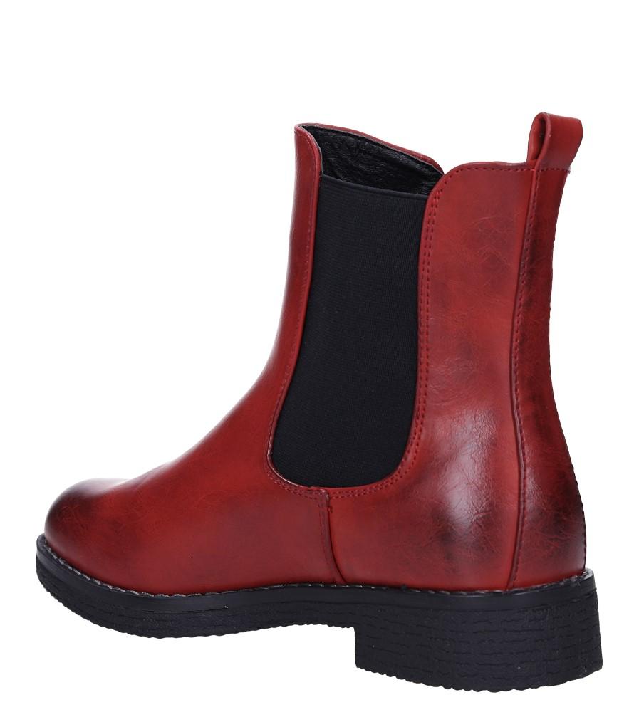 Czerwone botki sztyblety z gumkami Jezzi 9BT35-1489 obwod_cholewki_u_gory 22 cm
