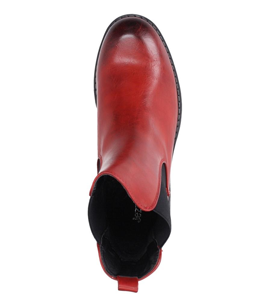 Czerwone botki sztyblety z gumkami Jezzi 9BT35-1489 obwod_w_kostce 26 cm
