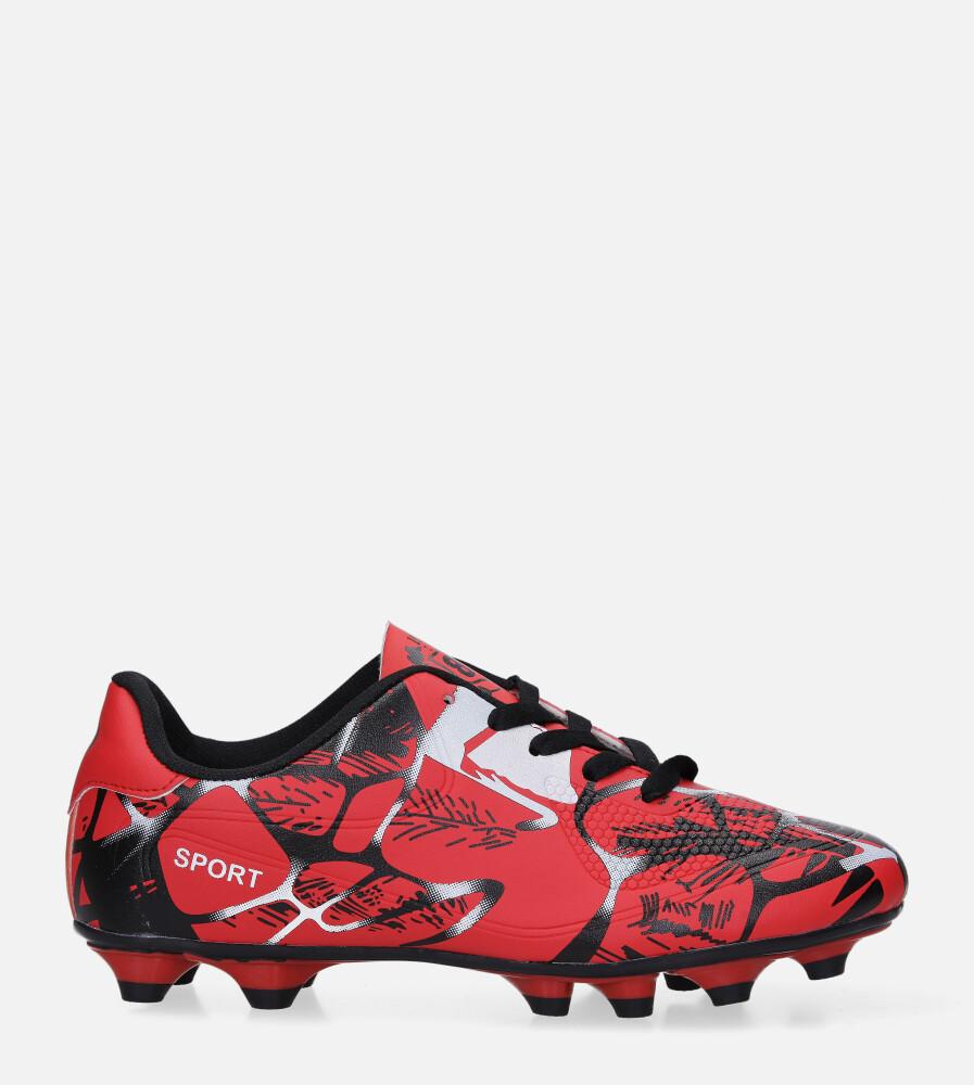 Czerwone buty sportowe korki sznurowane Casu 163 czerwony