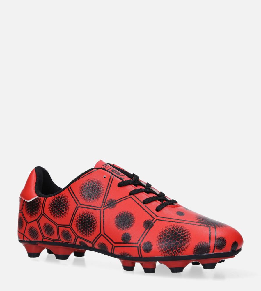 Czerwone buty sportowe korki sznurowane Casu 168 czerwony