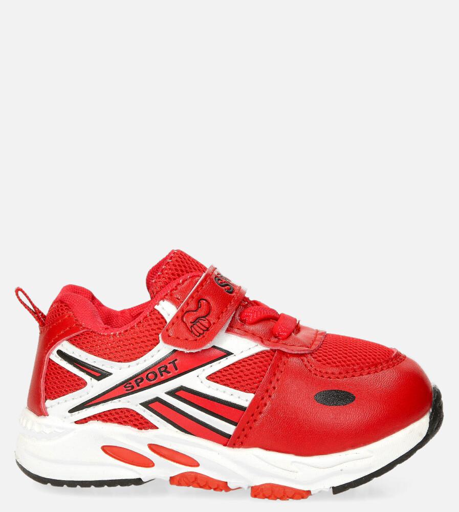 Czerwone buty sportowe na rzep Casu 20P15/M czerwony