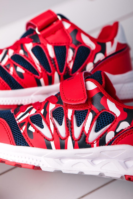 Czerwone buty sportowe na rzep Casu 20P8/M  model 20P8/M/C912/1830015