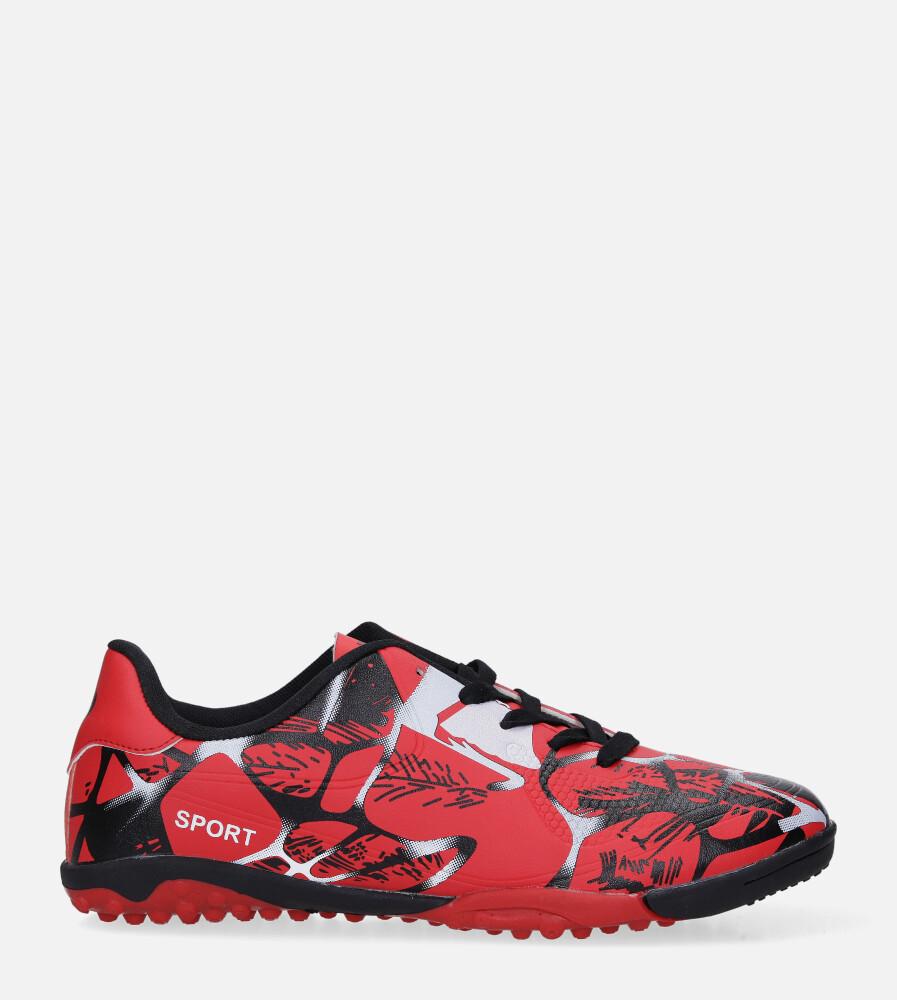 Czerwone buty sportowe orliki sznurowane Casu 163-1 czerwony