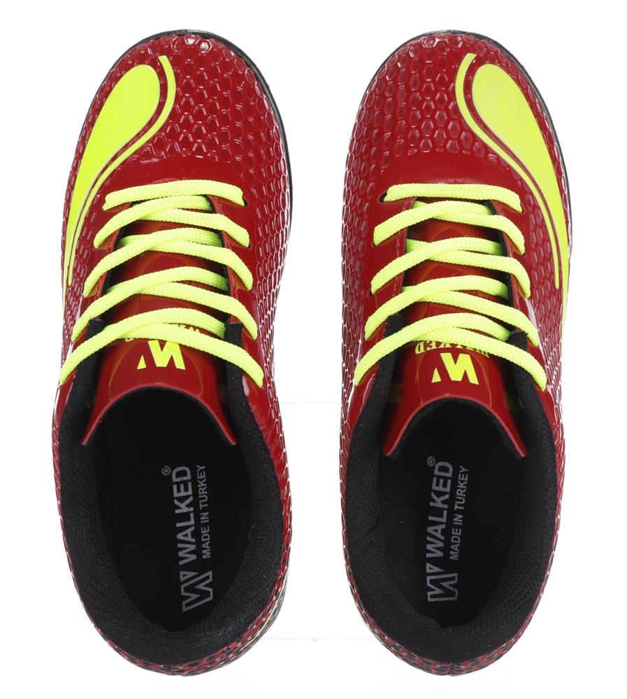 Czerwone buty sportowe orliki sznurowane Casu D415-3