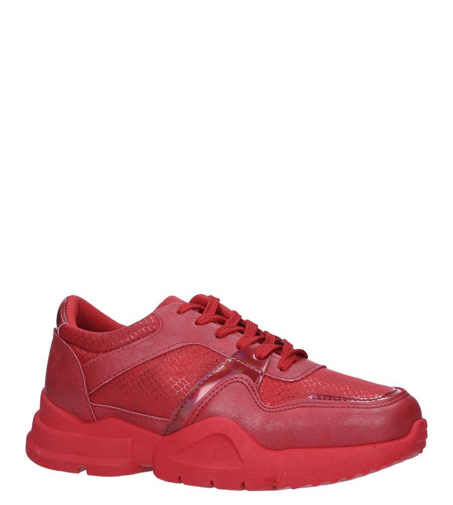 Czerwone buty sportowe sneakersy sznurowane Casu 7-K571C czerwony