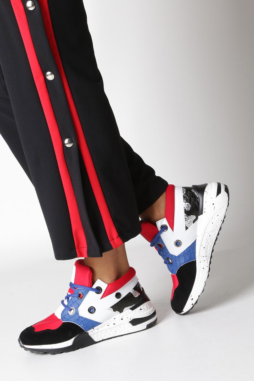 Czerwone buty sportowe sneakersy sznurowane Casu 7-K587B