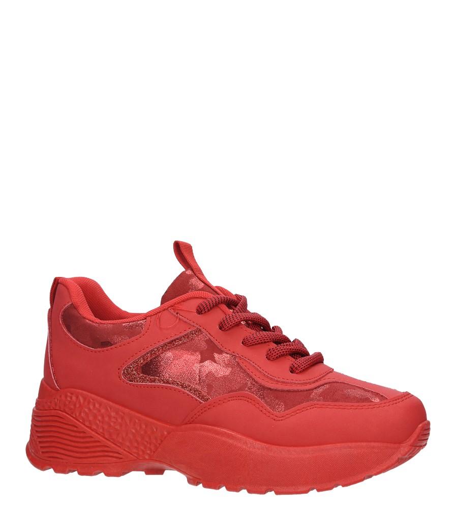 Czerwone buty sportowe sneakersy sznurowane Casu 7-K591C