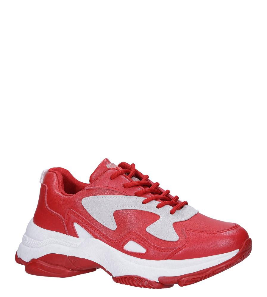Czerwone buty sportowe sneakersy sznurowane Casu DS13003 czerwony