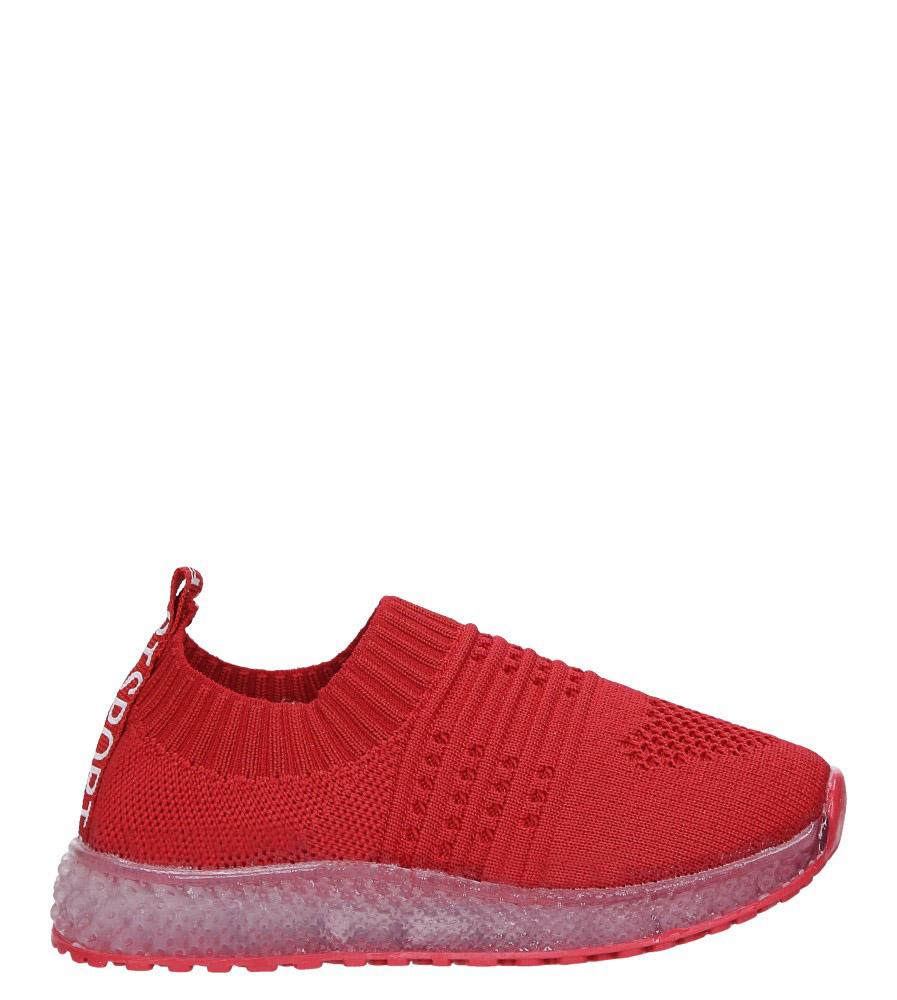Czerwone buty sportowe świecące led Casu 1907 czerwony