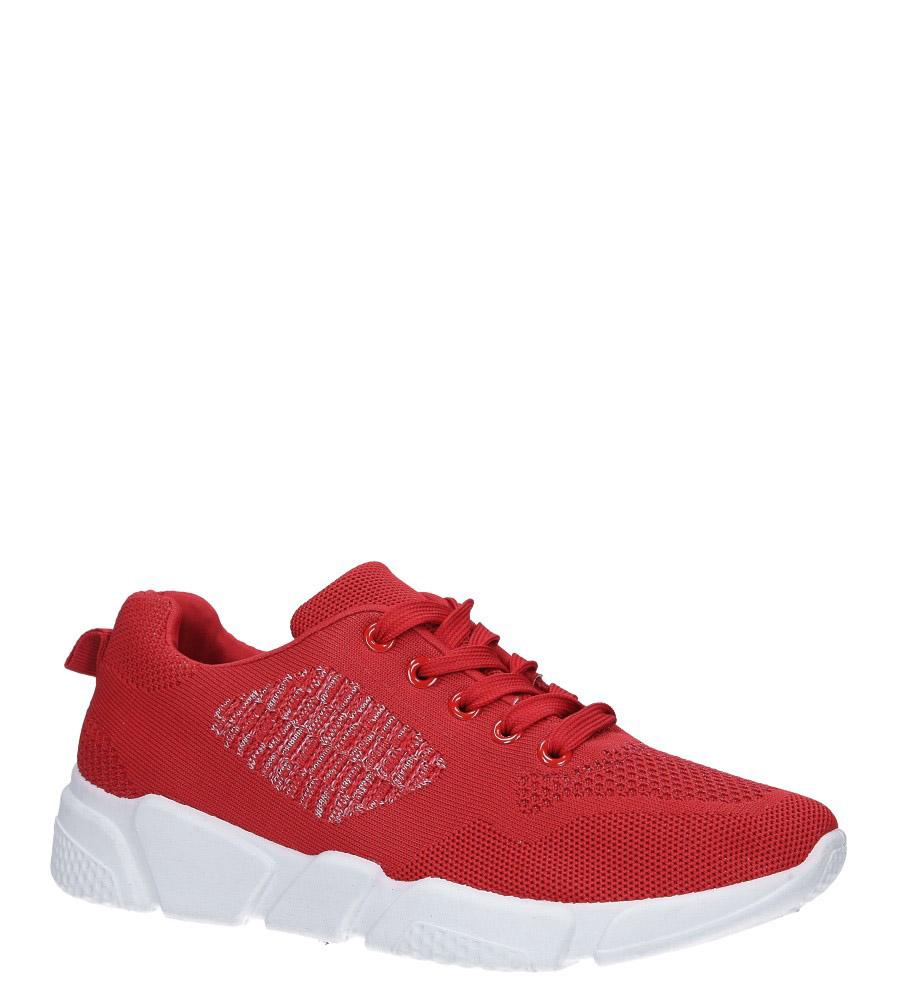 Czerwone buty sportowe sznurowane Casu 1902-4
