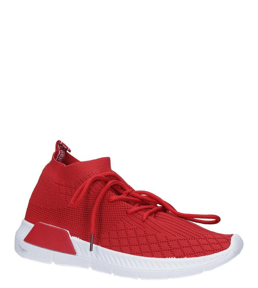 Czerwone buty sportowe sznurowane Casu 1903-4