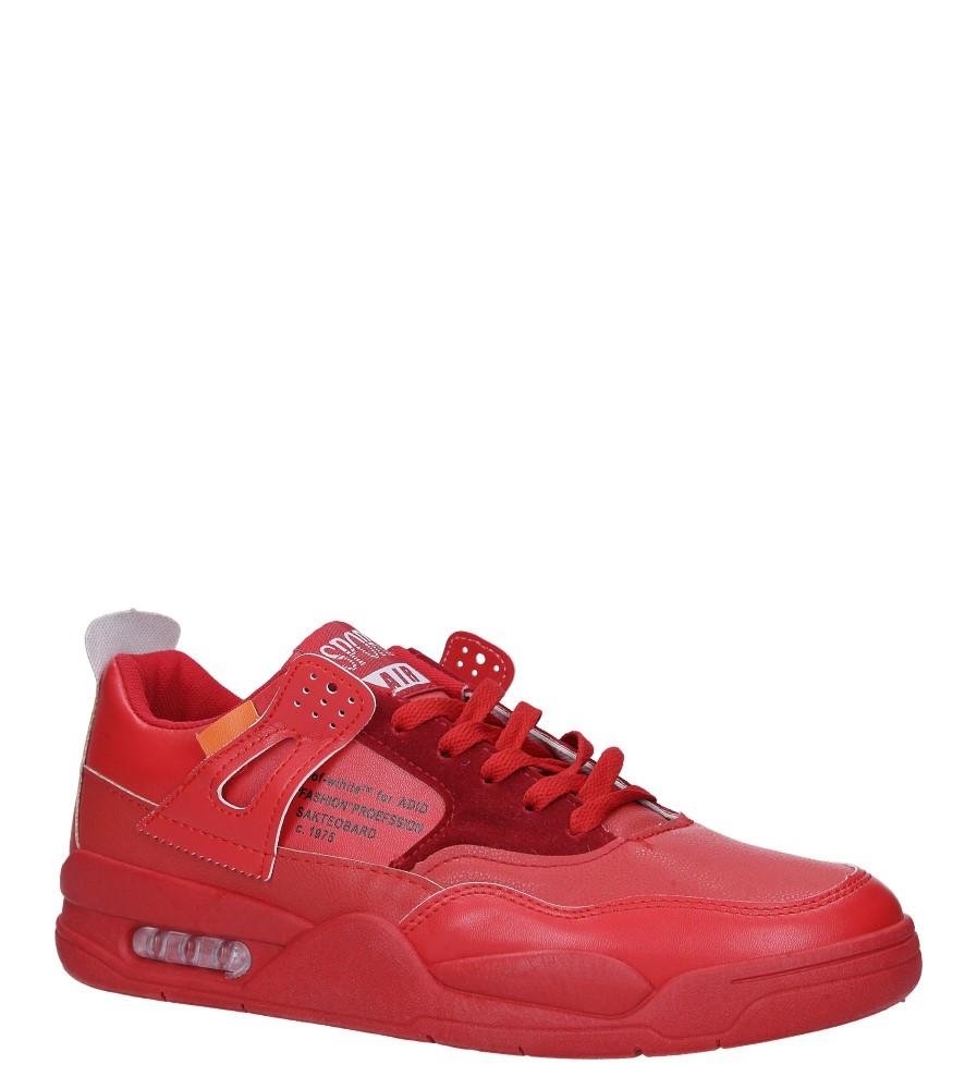 Czerwone buty sportowe sznurowane Casu 191 producent Casu