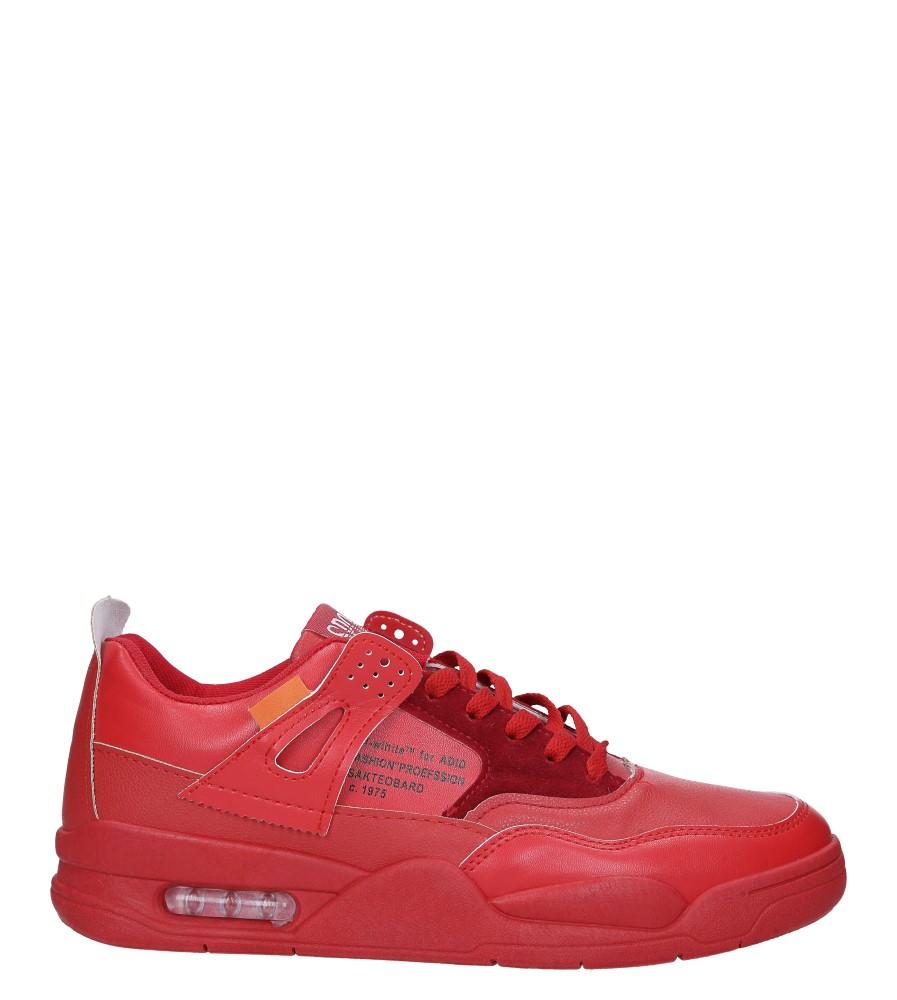 Czerwone buty sportowe sznurowane Casu 191