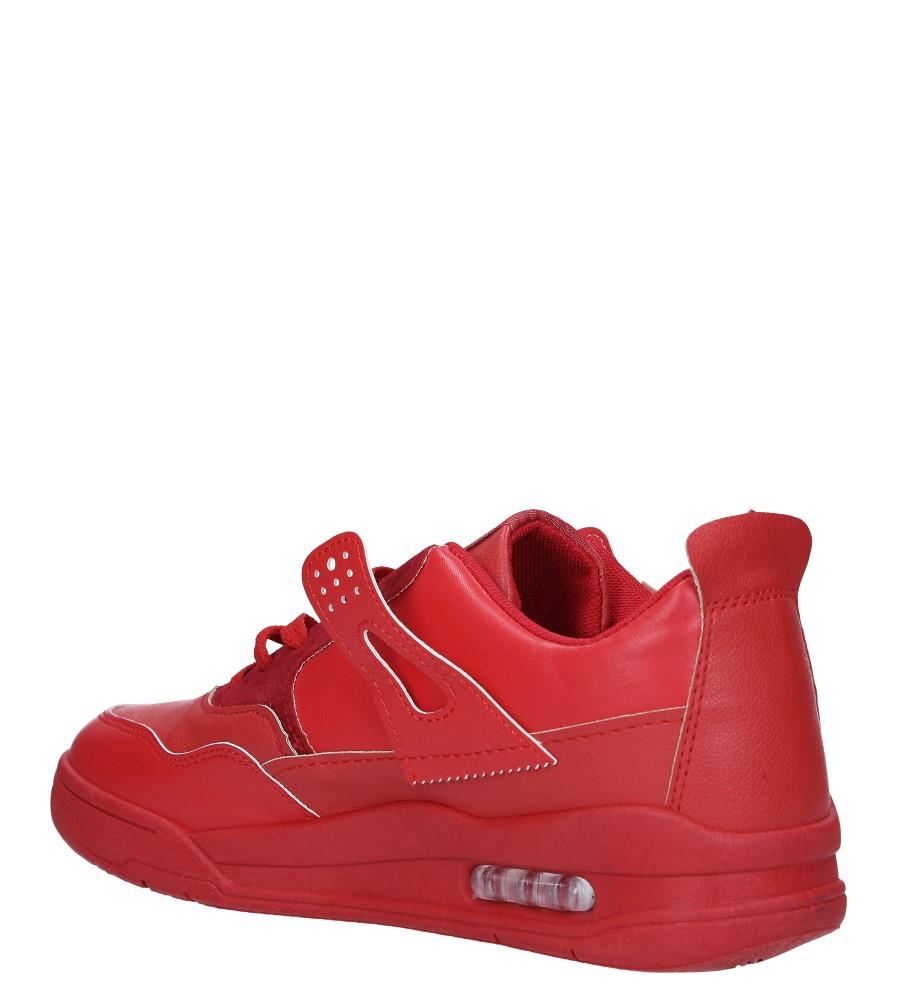 Czerwone buty sportowe sznurowane Casu 191 sezon Całoroczny
