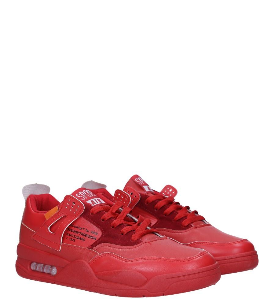 Czerwone buty sportowe sznurowane Casu 191 kolor czerwony
