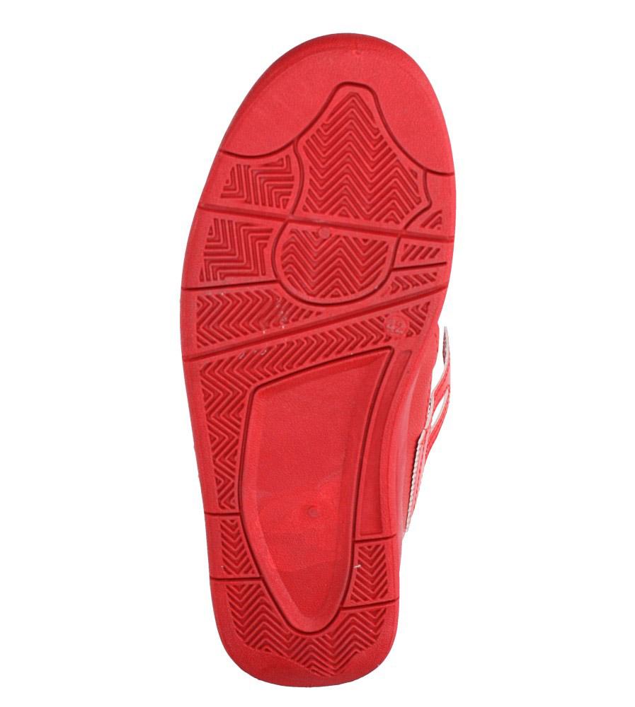 Czerwone buty sportowe sznurowane Casu 191 wierzch skóra ekologiczna