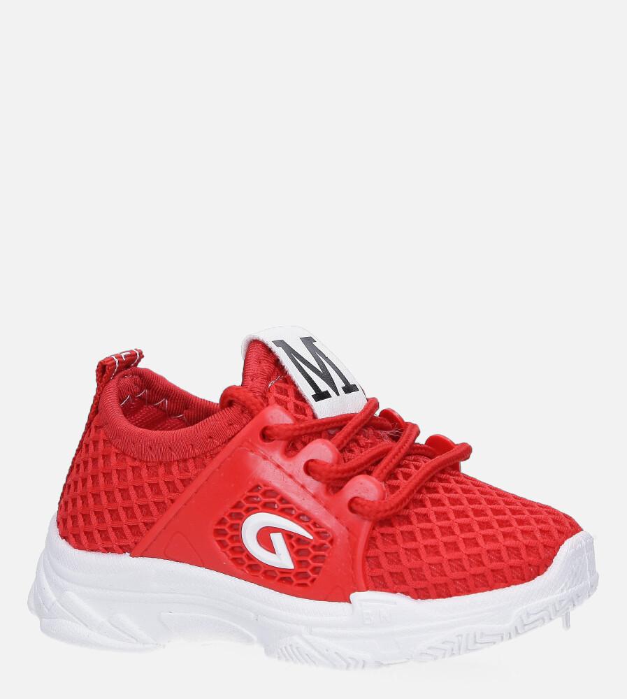 Czerwone buty sportowe sznurowane Casu 629 czerwony