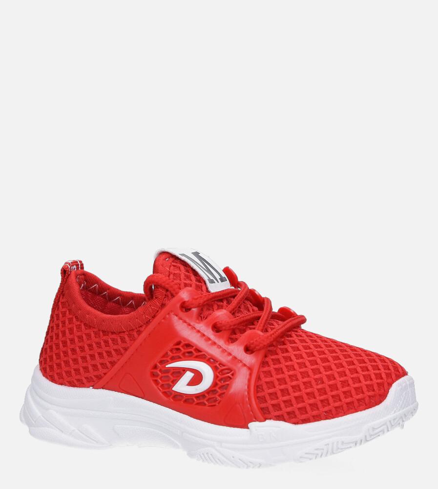Czerwone buty sportowe sznurowane Casu 829 czerwony