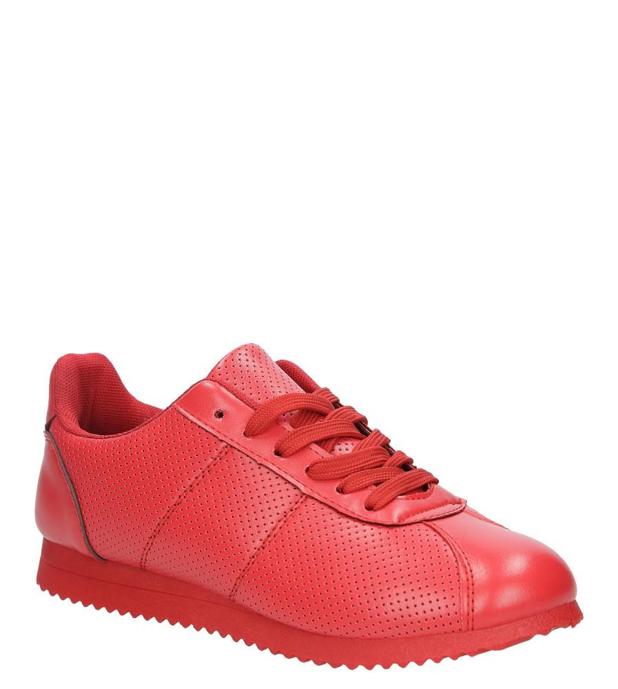 Czerwone buty sportowe sznurowane Casu 87-4A