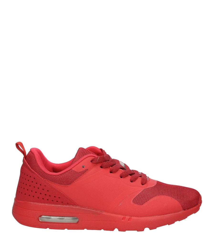 Czerwone buty sportowe sznurowane Casu A6031-2