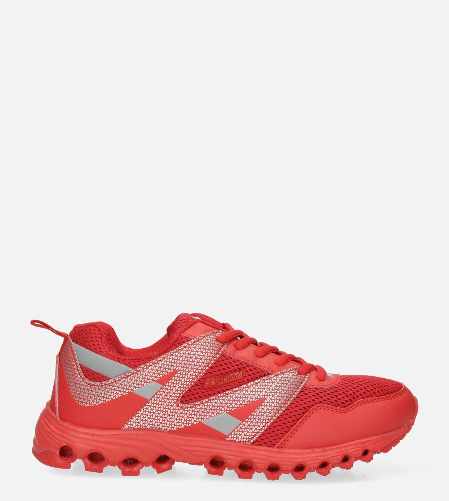 Czerwone buty sportowe sznurowane Casu B2033-13 czerwony