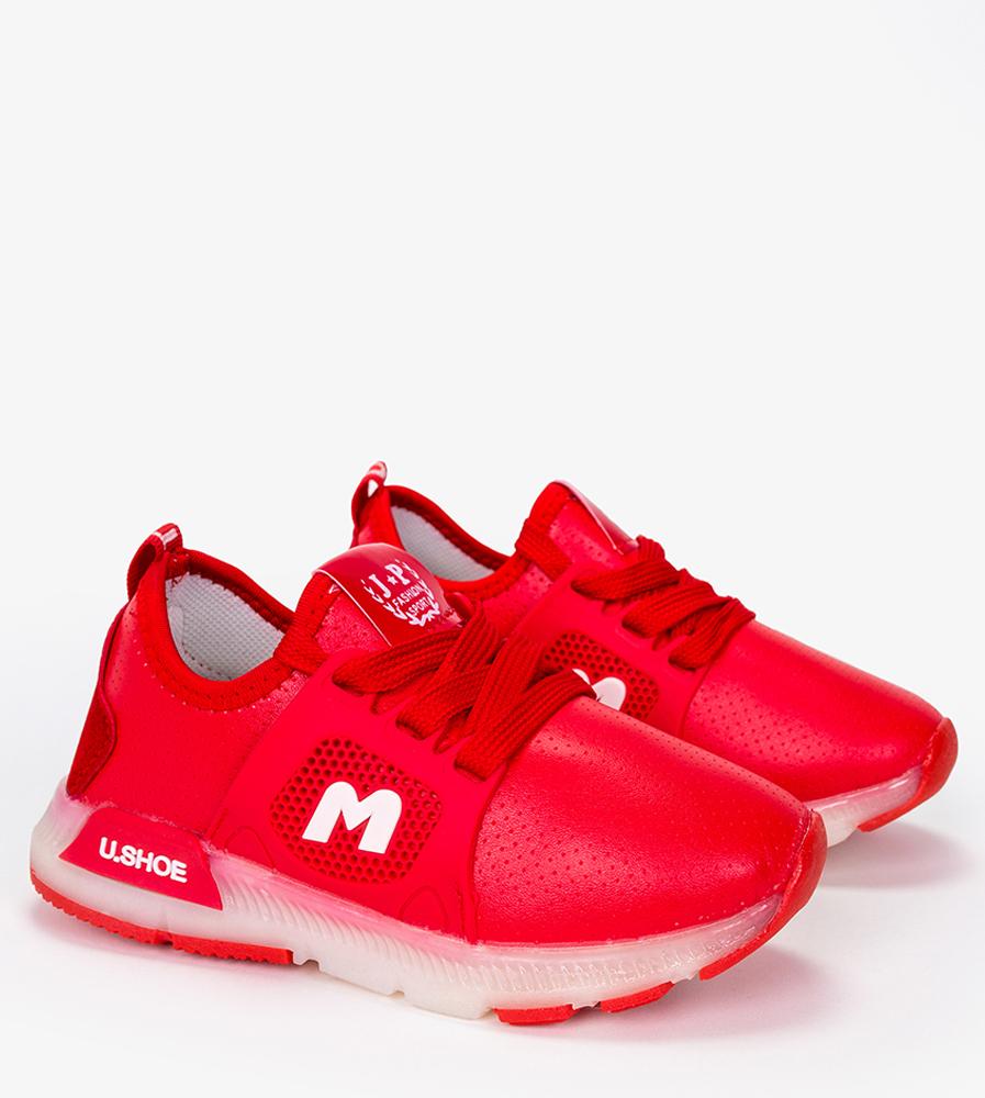 Czerwone buty sportowe sznurowane Casu B331 czerwony