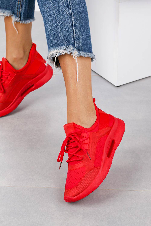 Czerwone buty sportowe sznurowane Casu DS12001-5 czerwony