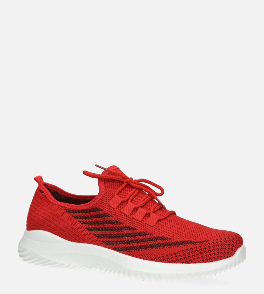 Czerwone buty sportowe sznurowane Casu H1913-3 czerwony
