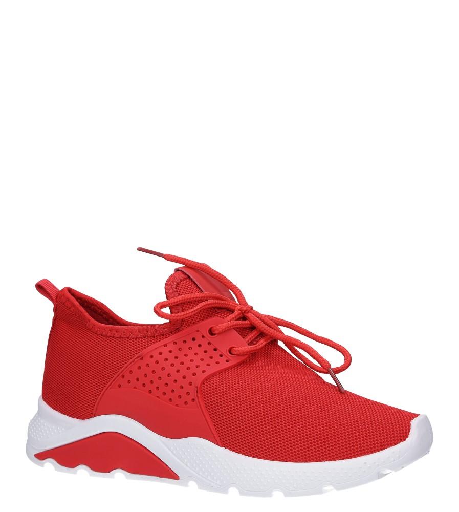 Czerwone buty sportowe sznurowane Casu HR61293