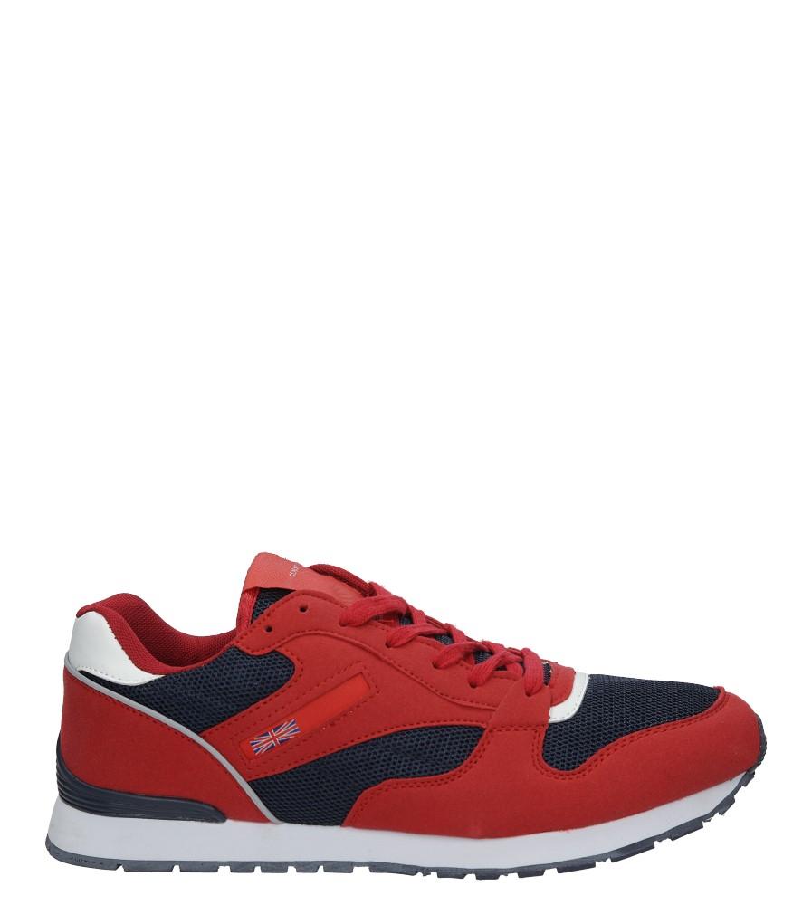 Czerwone buty sportowe sznurowane Casu M81-57 czerwony
