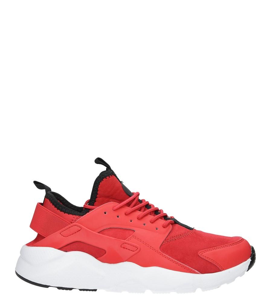 Czerwone buty sportowe sznurowane Casu U8102-4