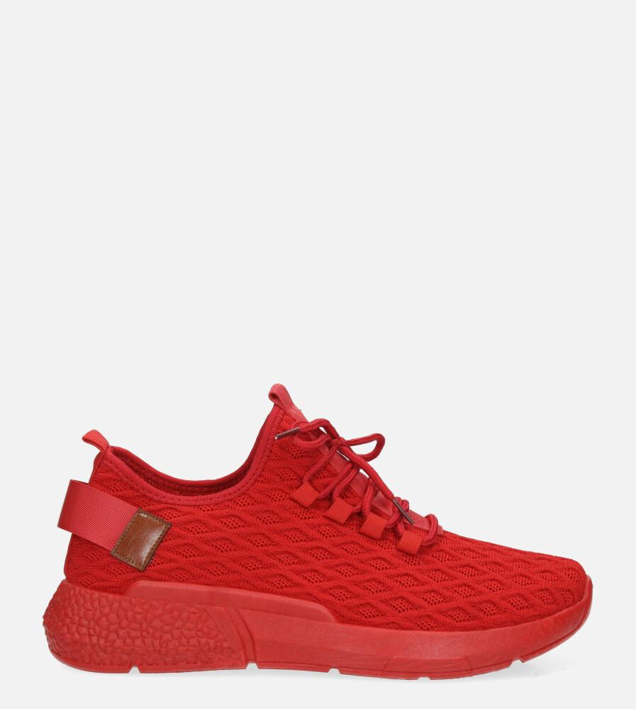 Czerwone buty sportowe sznurowane Casu YZ05-3 czerwony