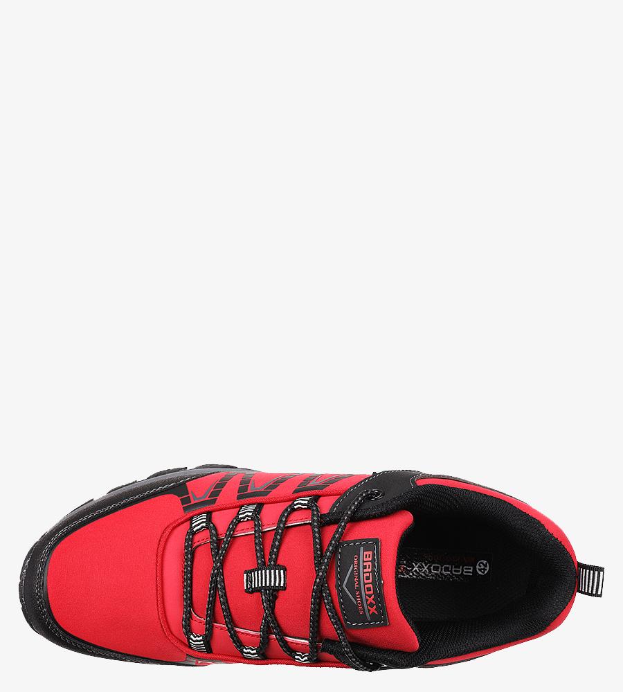 Czerwone buty trekkingowe sznurowane Casu MXC8108 model MXC8108