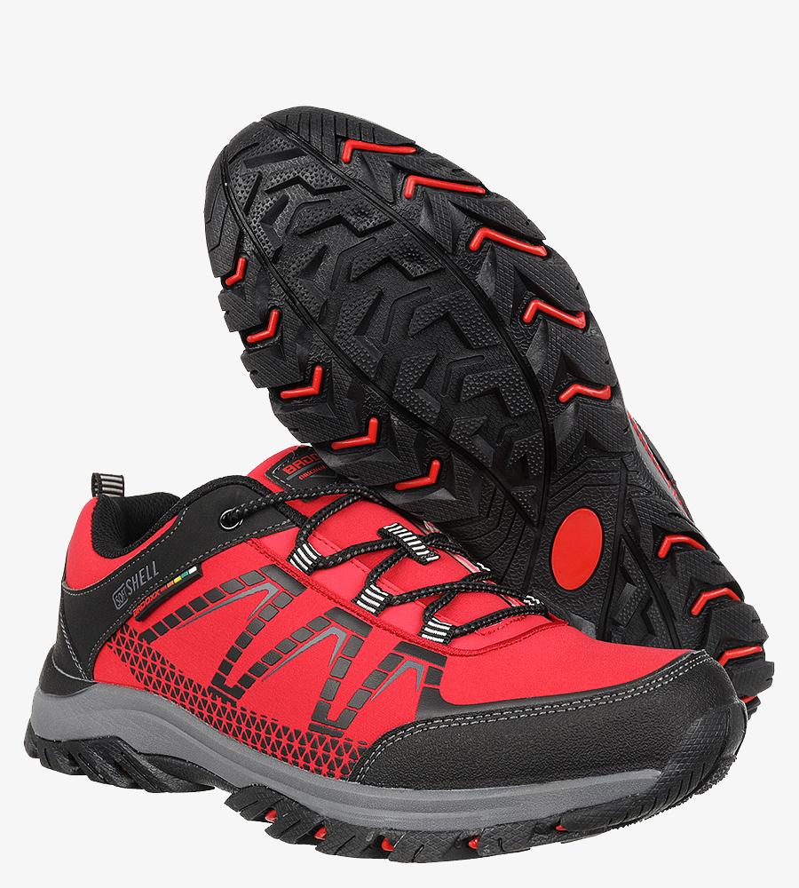 Czerwone buty trekkingowe sznurowane Casu MXC8108 kolor czerwony