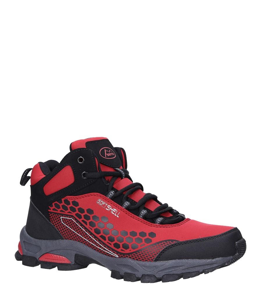 Czerwone buty trekkingowe sznurowane softshell Casu A1813-4 producent Casu