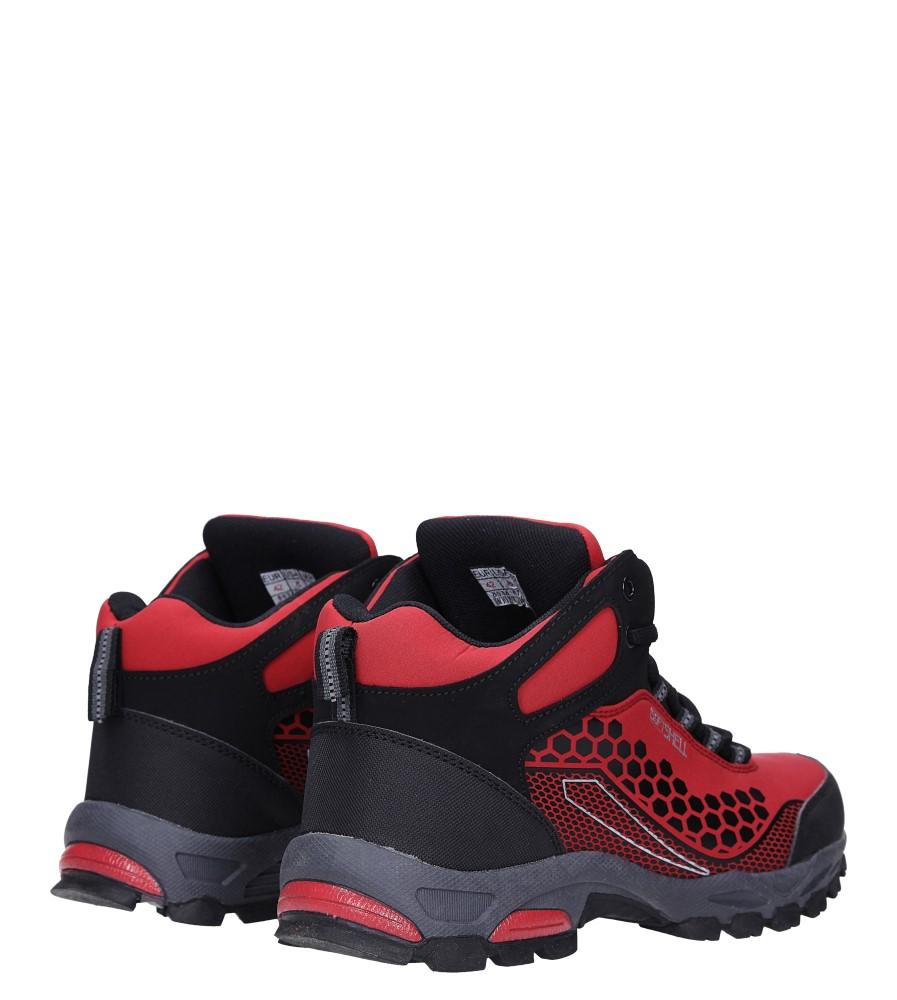 Czerwone buty trekkingowe sznurowane softshell Casu A1813-4 wysokosc_obcasa 3 cm