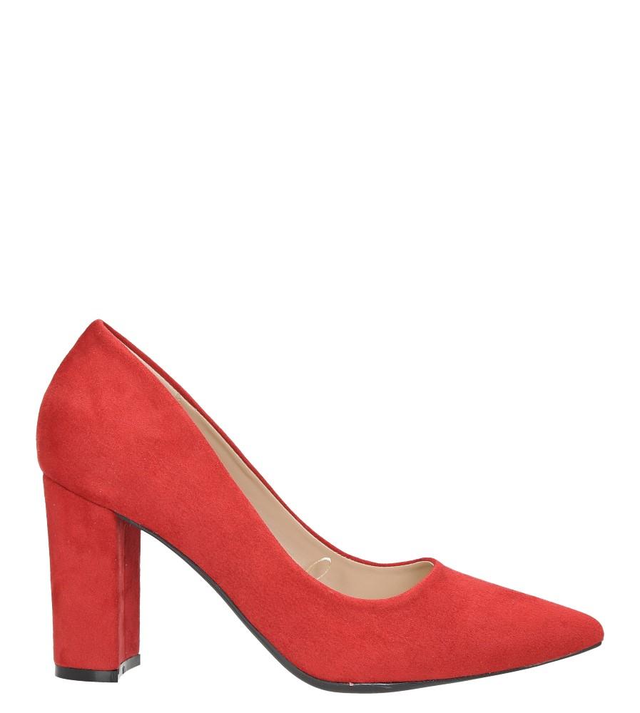 Czerwone czółenka na słupku ze skórzaną wkładką Casu N189X1/R wys_calkowita_buta 15 cm