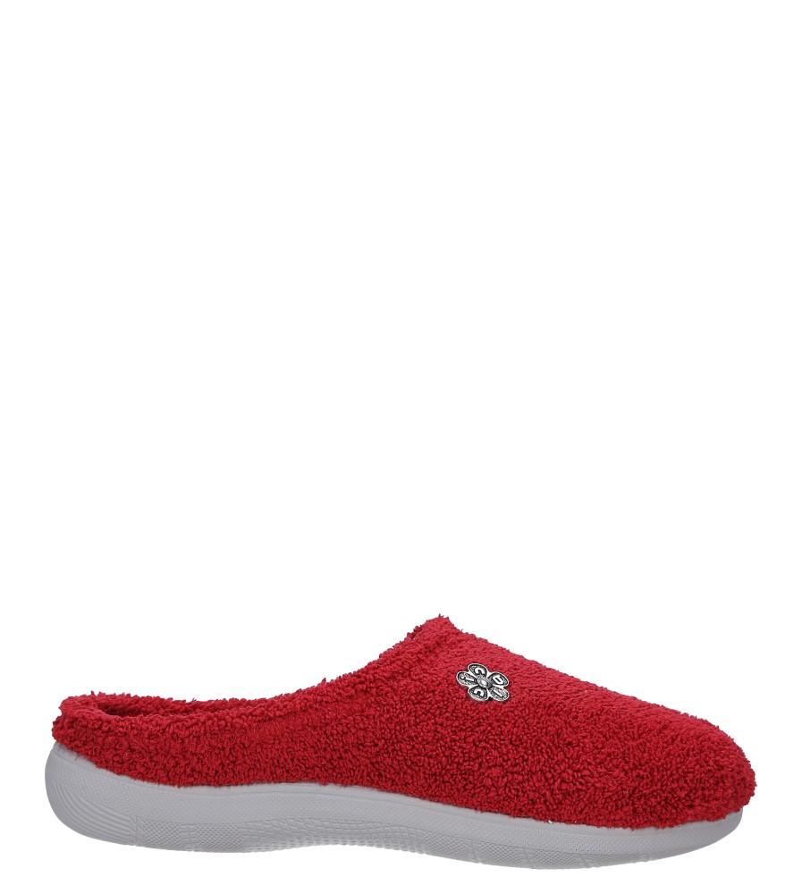Czerwone kapcie z kwiatkiem Inblu BS31TS01W