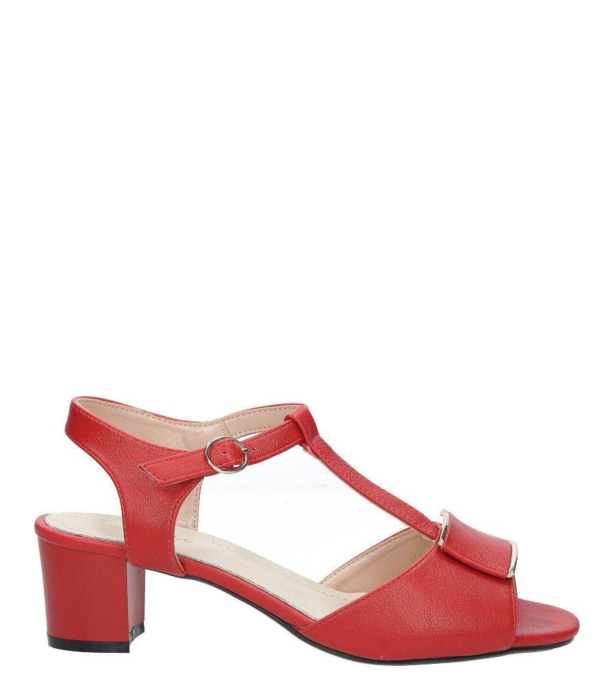 Czerwone sandały na niskim obcasie Sergio Leone SK806-13P