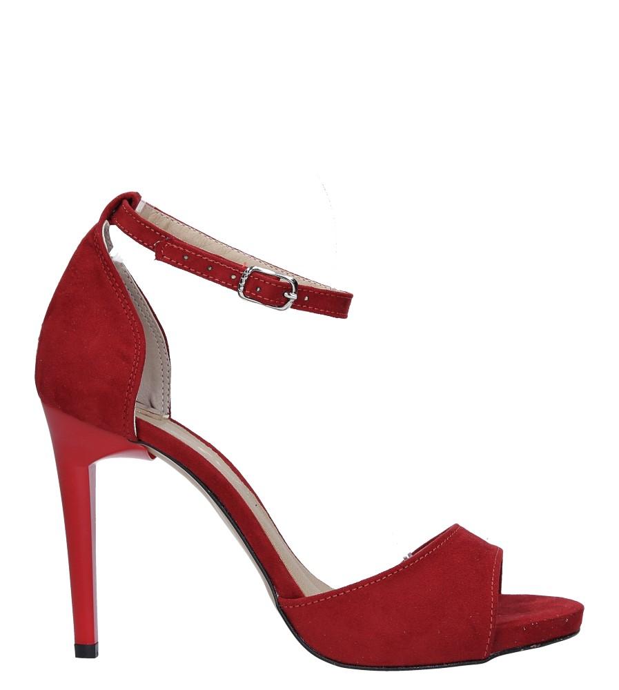 Czerwone sandały szpilki z zakrytą piętą i paskiem wokół kostki Casu 1590/1 wysokosc_platformy 1.5 cm