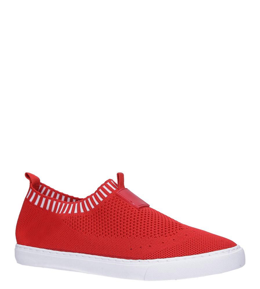 Czerwone skarpetkowe buty sportowe Casu XT-11