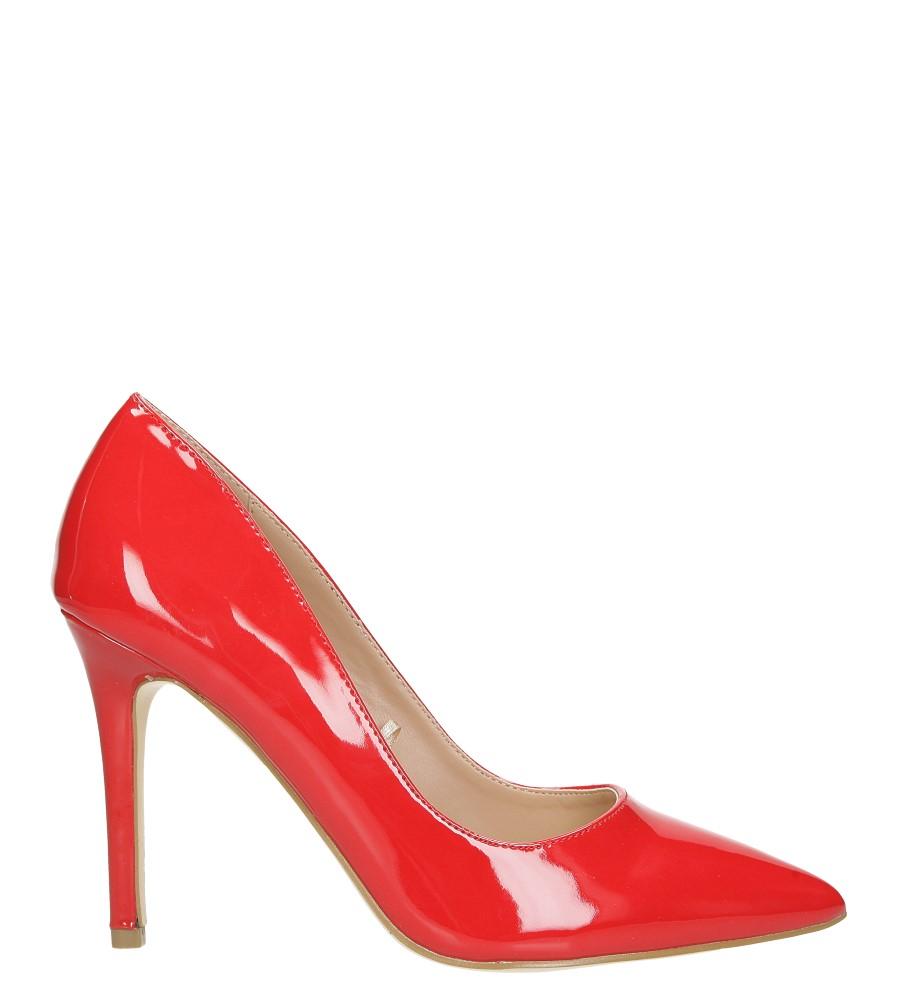 Czerwone szpilki czółenka lakierowane ze skórzaną wkładką Casu N189X6/R wysokosc_obcasa 10 cm