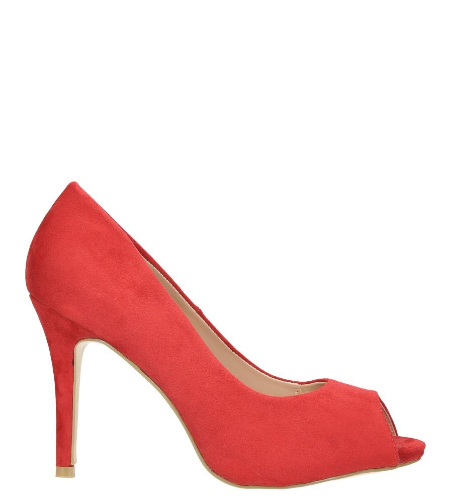 Czerwone szpilki czółenka peep toe ze skórzaną wkładką Casu N189X4/R wysokosc_obcasa 10 cm