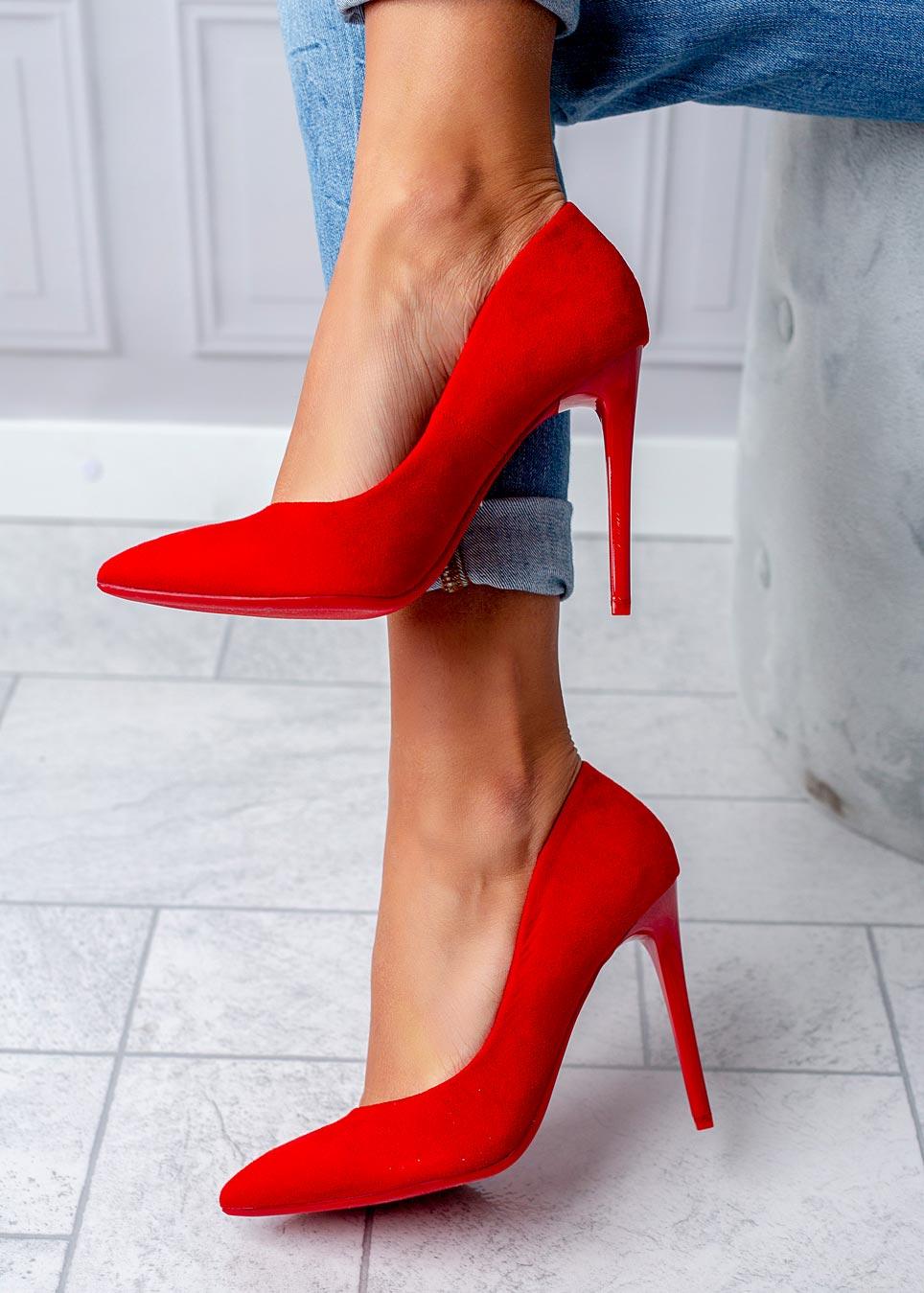 Czerwone szpilki karnawałowe Casu czerwony
