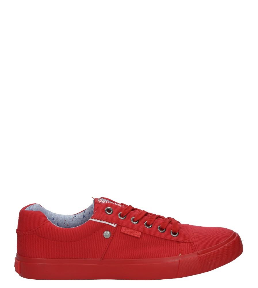 Czerwone trampki sznurowane Big Star AA174093