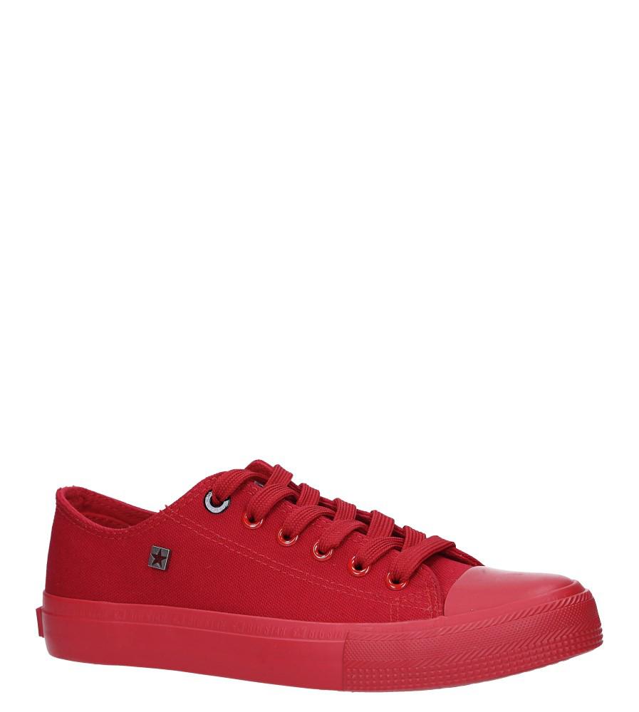 Czerwone trampki sznurowane Big Star AA274007SS19 czerwony