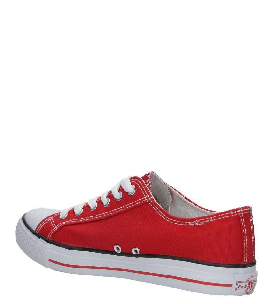 Czerwone trampki sznurowane Casu 083 kolor czerwony