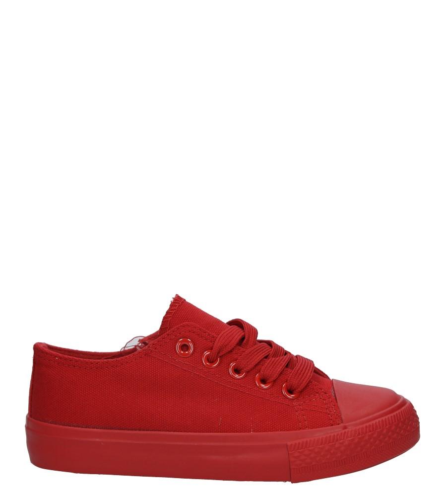 Czerwone trampki sznurowane Casu CC12-518