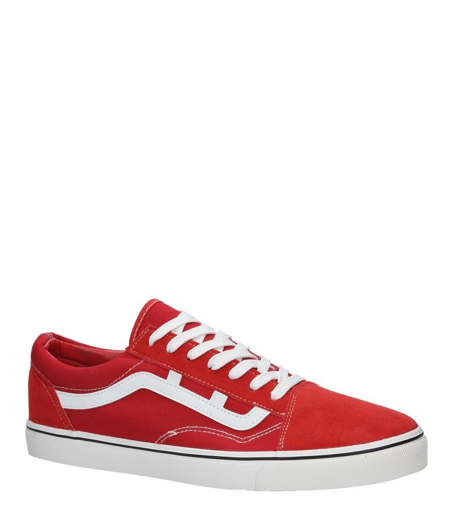 Czerwone trampki sznurowane Casu HR61263
