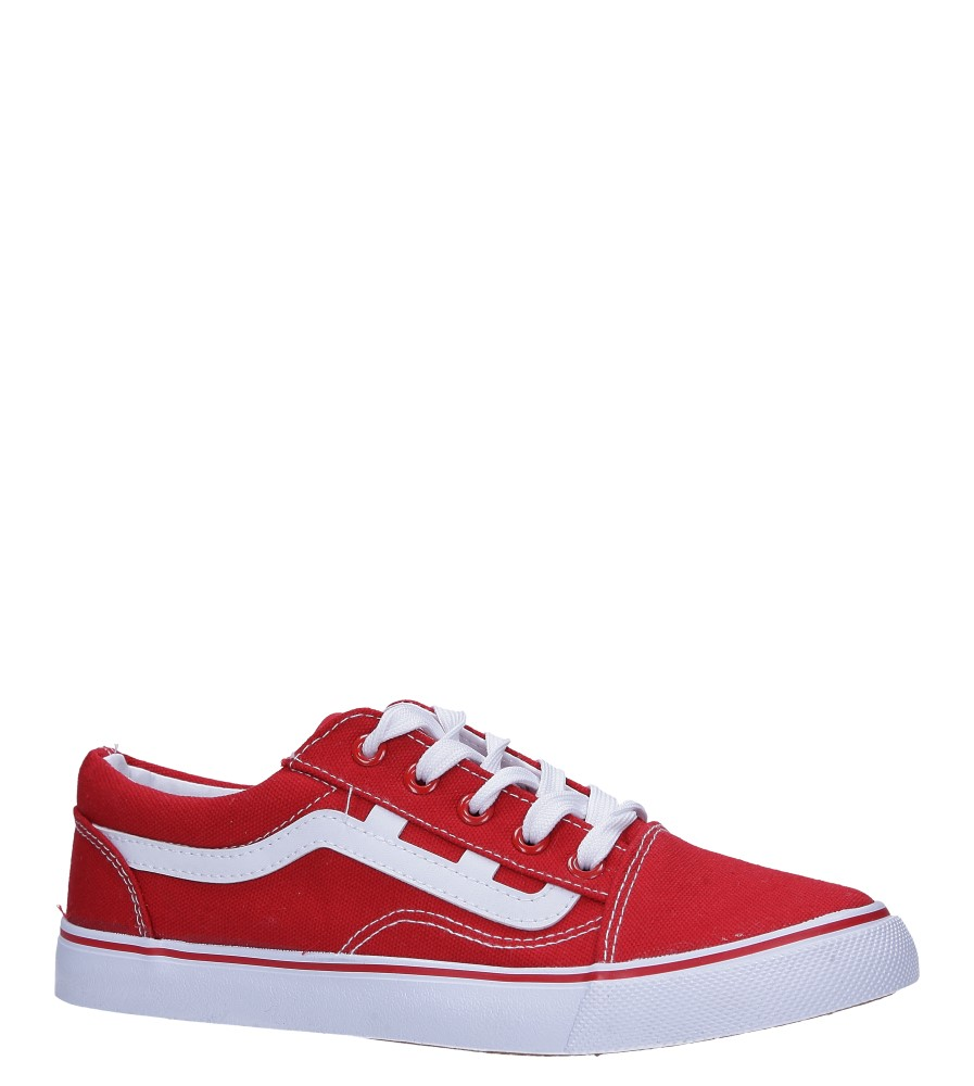 Czerwone trampki sznurowane Casu LTD203-4
